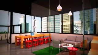 commercial Office interior walkthrough presentations vedio - Video