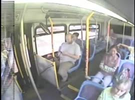 Bus Driver Reacts Quickly in Crash with Bicycle! - Video