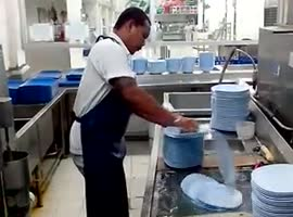 Fastest Dish Washer on Earth? - Video