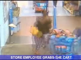 Two Women Try to Steal 15 Cases of Beer - Video