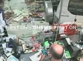 -Close Call for Customer at the Register-
