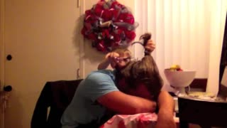 Kid Cuts Uncle's Ponytail While He Sleeps