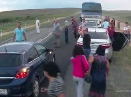 Accident Causes Another Worse Accident - Video