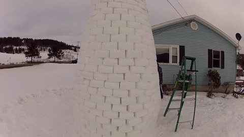 Ever Build a Snow Fort This Impressive?