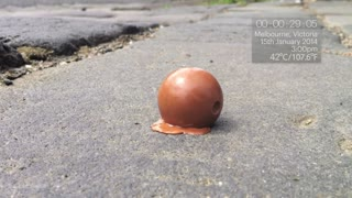 Chocolate Ball Melting In Extreme Heat! - Video