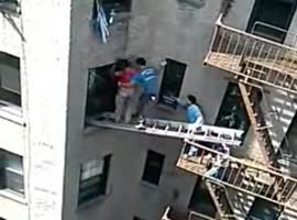 -Men Rescue Man from Burning Apartment-