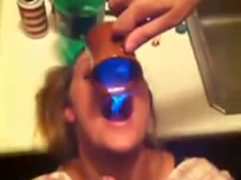 Girl Drinks Flaming Substance