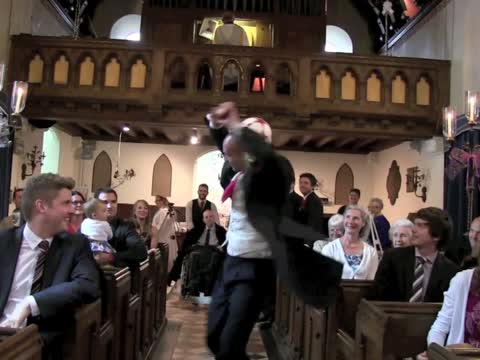 Groom Shows Off Amazing Juggling Skills