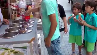 Guy Gets Served Ice-Cream Cone - Video