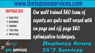 The Best SEO Company - Top SEO Company - Website High Rankings - Video