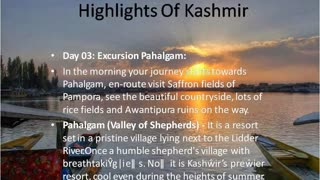 Kashmir houseboats Tours, Kashmir packages, Kashmir Tourism - Video