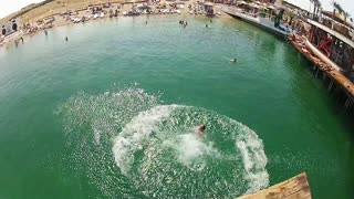Front Flip Belly Flop In Reverse! - Video