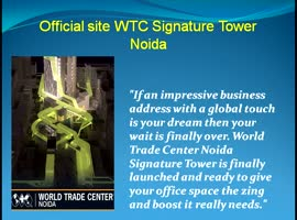 Official site WTC Signature Tower Noida - Video