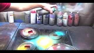 Spray painting a Galaxy - Video