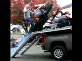 -Snowmobile Loading Fail- - Video