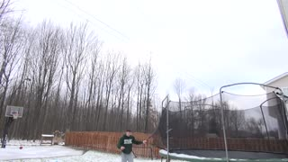 Epic Trampoline Flip Trickshot! - Video