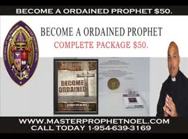 BECOME A ORDAINED PROPHET $50. - Video