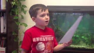 "3rd Grader Sings the ""Snow Day Blues"""