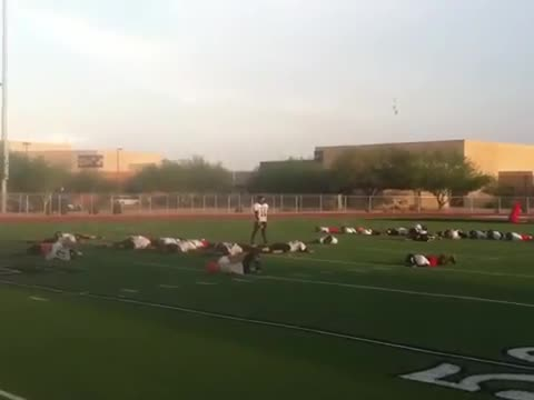 =Funny Collective Faint Prank to Quarterback during Practice=