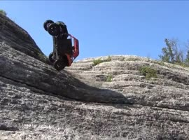 crazy cliff climbing close call disaster