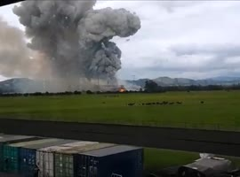 _Incredible Footage of the Explosion of a Gunpowder Facility in Colombia_ - Video