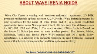 Wave Irenia by Wave Infratech at Wave City Centre Sector 32 Noida - Video