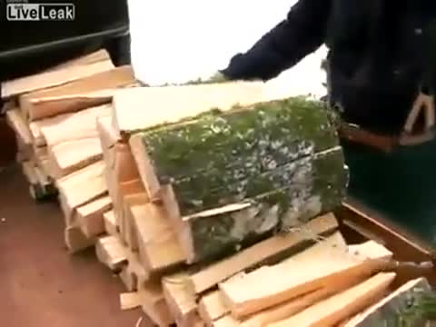 easy way for splitting wood