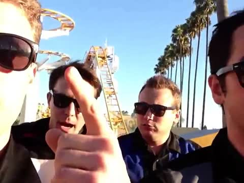 A Cappella Group Sings While Riding a Roller Coaster