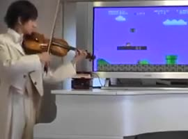 Playing Super Mario viola - Video
