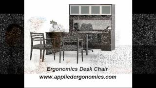 Ergonomics Desk Chair from Appliedergonomics - Video