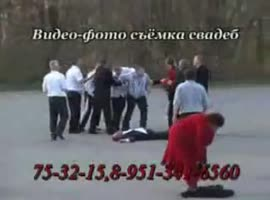 funny fight at a wedding - Video