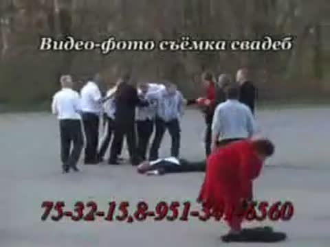 funny fight at a wedding