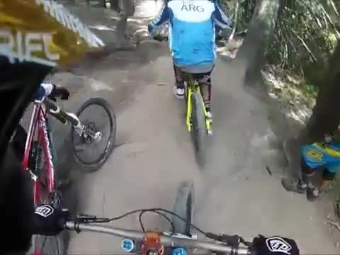 Unexpected Turn Takes Out Four Bikers