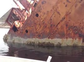 BOAT COLLISION WAKES UP MAN - Video