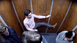 Awkward karate in an elevator prank - Video