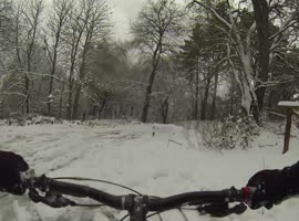 Mountain Biking Down Snow Covered Mountain! - Video