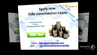 SFSfinance - Debt consolidation Loan - Video