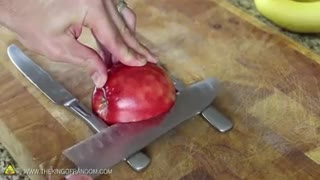 make a swan out of an apple - Video