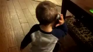 Baby's Adorable Phone Conversation - Video