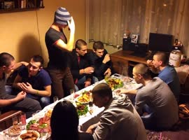 Bulgarian teens make harlem shake on a party