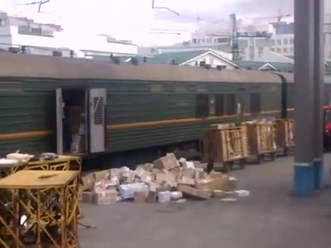 Laziest Worker Unloads Train