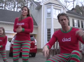 Family Creates Amazing 'Xmas Jammies' Christmas Video - Video
