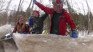 Creating an Outdoor Ice Bar! - Video