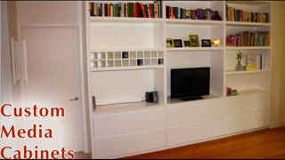 Custom Media Cabinets NYC - cabinetmakernyc.com - Video