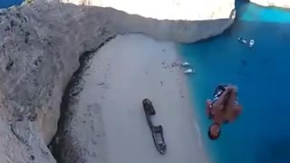 Amazing basejump in Greece - Video