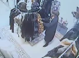 stealing a coat - Video