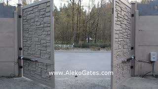 ALEKO GG1300 Basic Kit Swing Gate Opener for Dual Swing Gates - Video