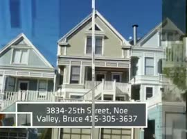 Noe Valley 3834-25th St 3 BR-2.5 Bath San Francisco Home - Video