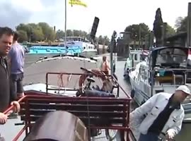 Stupid Boat Captain Causes Accident - Video