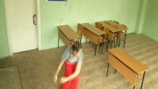 jumps in school and classroom - Video